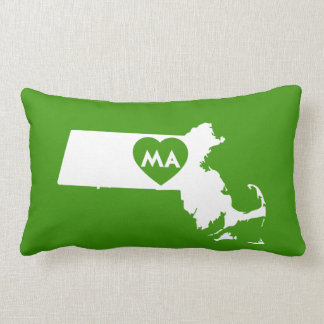 I Love Massachusetts State Lumbar Pillow