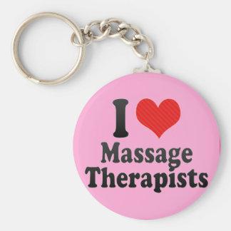 I Love Massage Therapists Keychains