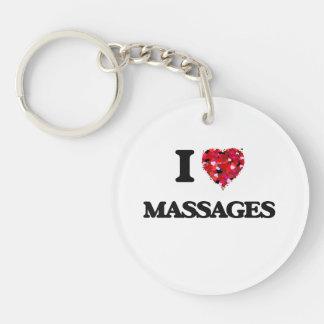 I Love Massages Single-Sided Round Acrylic Keychain