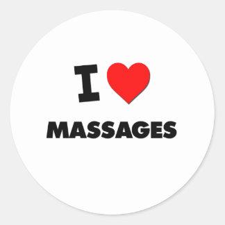 I Love Massages Round Sticker