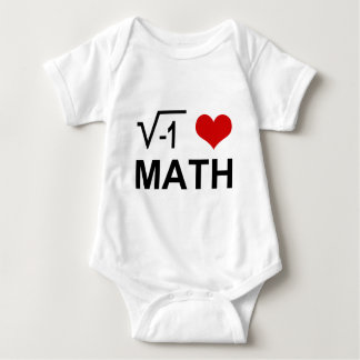 I love MATH! Baby Bodysuit