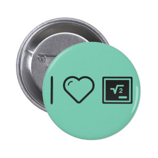 I Love Math Functions 2 Inch Round Button