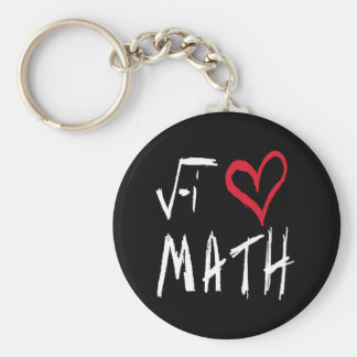 I Love Math Keychain