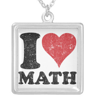 I Love Math Necklace