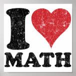 I Love Math Poster