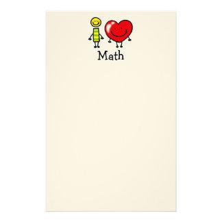 i love math stationery