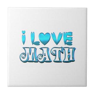 I Love Math Tile