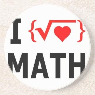I Love Math White Coaster