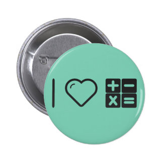 I Love Mathematical Functions 2 Inch Round Button