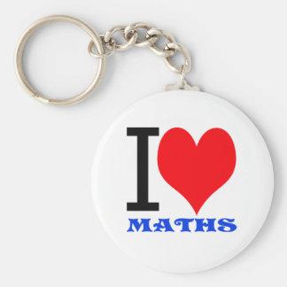 I love maths keychain