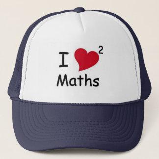 I LOVE MATHS TRUCKER HAT