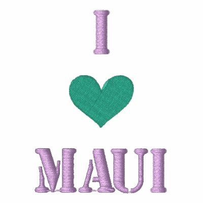 """I LOVE MAUI"" SHIRT - Customized EMBROIDERY Embroidered Shirts"