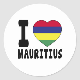 I Love Mauritius Classic Round Sticker