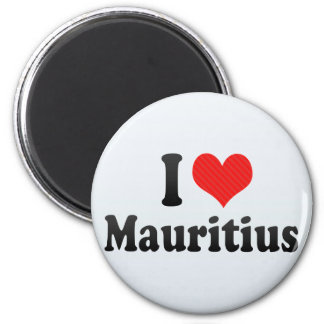 I Love Mauritius Magnet