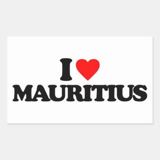 I LOVE MAURITIUS STICKER