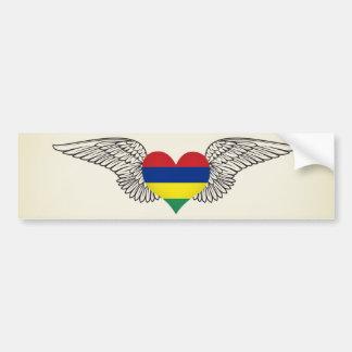 I Love Mauritius -wings Bumper Sticker