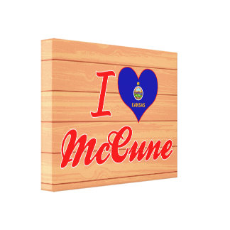 I Love McCune, Kansas Canvas Prints