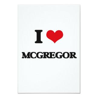 "I Love Mcgregor 3.5"" X 5"" Invitation Card"