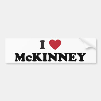 I Love McKinney Texas Bumper Sticker