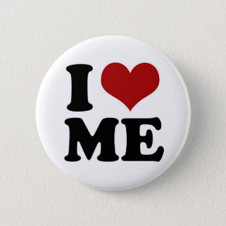 I LOVE ME - button