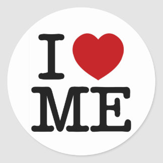 I Love Me Heart Me self esteem confidence dignity Classic Round Sticker
