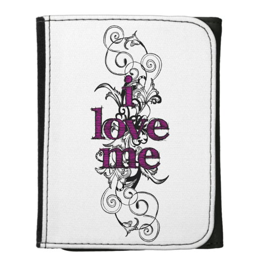 I Love Me (pink/white) Wallet