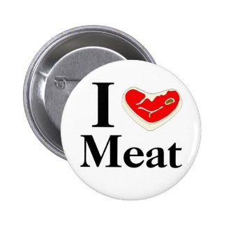 I Love Meat Button