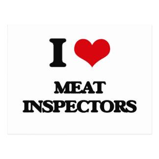 I Love Meat Inspectors Post Card