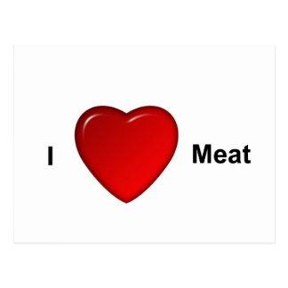 I love meat postcard