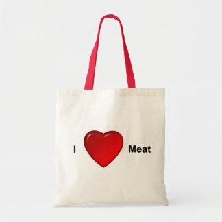 I love meat tote bag