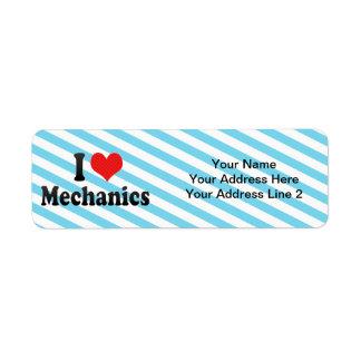 I Love Mechanics Custom Return Address Label