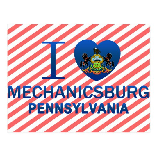 I Love Mechanicsburg, PA Postcard