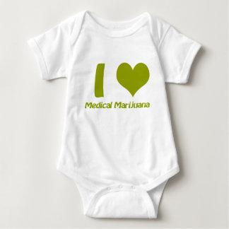 I Love Medical Marijuana Baby Bodysuit