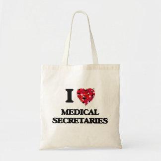 I love Medical Secretaries Budget Tote Bag