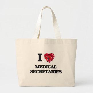 I love Medical Secretaries Jumbo Tote Bag