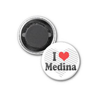 I Love Medina, Saudi Arabia 1 Inch Round Magnet