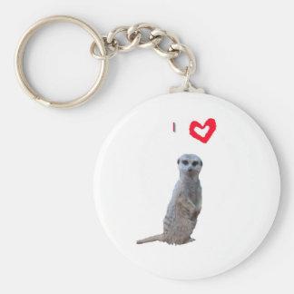 I love Meerkats Keychain