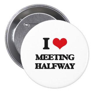 I Love Meeting Halfway Pinback Buttons