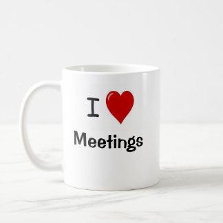 I Love Meetings - I Heart Meetings Coffee Mug