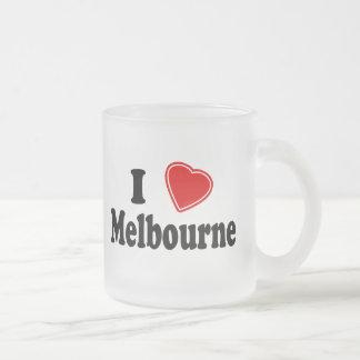I Love Melbourne Frosted Glass Mug