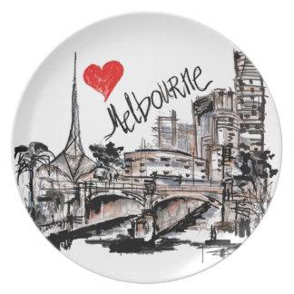 I love Melbourne Plate