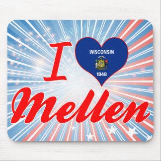 I Love Mellen, Wisconsin Mousepad