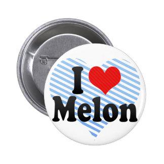 I Love Melon 2 Inch Round Button