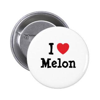 I love Melon heart T-Shirt 2 Inch Round Button