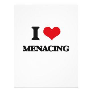 I Love Menacing Flyer