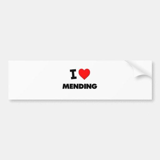I Love Mending Bumper Sticker