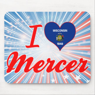 I Love Mercer, Wisconsin Mousepad