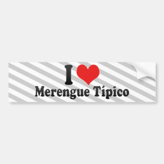 I Love Merengue Típico Bumper Sticker