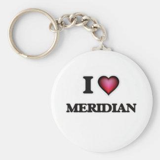 I Love Meridian Basic Round Button Keychain