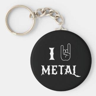 I Love Metal Keychain